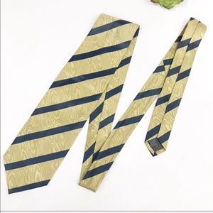 Oliver By Valentino Silk Tie Gold Striped
